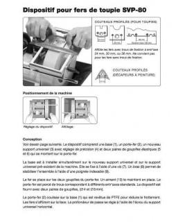 Tormek SVP80 Dispositif pour fer de toupie