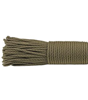 Paracord Tactical Green 375 - 100 mètres Type III 550