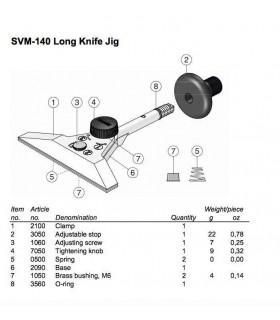 Tormek SVM140 Dispositif pour couteaux longs et fins -