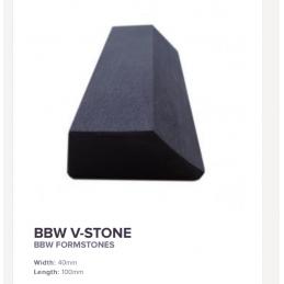Pierre à aiguiser BBW V-STONE 75 x 30 mm Belgian Blue Whetstone -