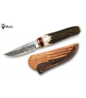 Couteau de chasse Muela BW6DAM Bowie Lame Damas de 7 cm dans un coffret -