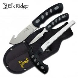 Set 3 Couteaux de chasse Elk Ridge ER-252 ( ER252 ) -