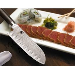 Couteau Japonais Santoku alvéolé Kai DM-0718 ( DM0718 ) Shun Classic lame de 18 cm -