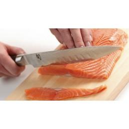 Couteau Japonais Kai à trancher alvéolé DM-0720 ( DM0720 ) Shun Classic lame de 23 cm Damas -