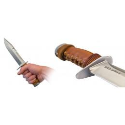 Couteau fixe Wildsteer Kangal KAN0102 Manche en cuir à tannage végétal -