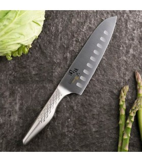 Kai AB5157 Shoso Coutea Santoku Lame de 16,5 cm alvéolée -