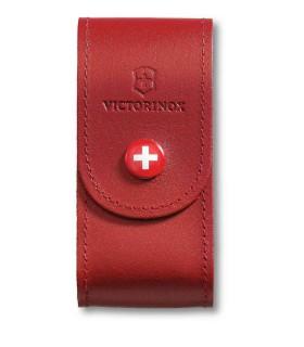 Victorinox 405211 Etui cuir rouge avec bouton pression -