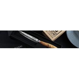 Wusaki Couteau japonais universel Damas Lame de 12 cm -