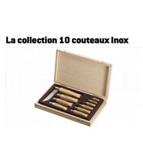 Opinel Coffret La collection 10 couteaux Inox -