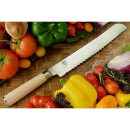 Couteau à pain Japonais Kai DM-0705W ( DM0705W ) Shun Classic White lame de 23 cm -