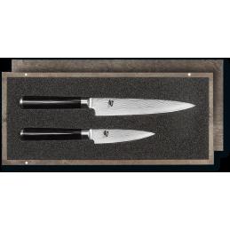 Set de Couteaux Japonais Kai DMS-210 ( DMS210 ) Shun Classic DM-0700 + DM-0701 Damas -