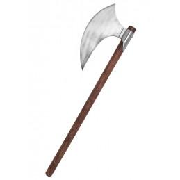 Wiking Hache à barbe décorative avec manche en bois et lame de hache en acier. -