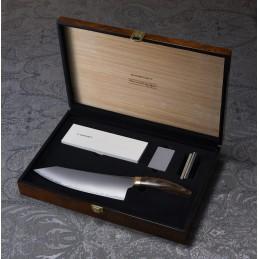 Suncraft Elégancia couteau de cuisine haut de gamme en acier à poudre SG2 fabriqué au Japon -