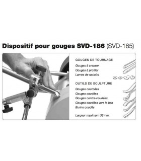 Tormek SVD-186 Dispositif pour gouges de tournages et sculptures -