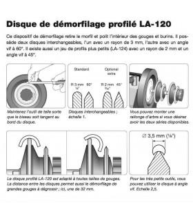 Tormek LA120 Disque de démorfilage profilé
