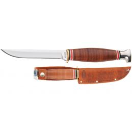 Ka-Bar 1226 Little Finn Manche et gaine en cuir