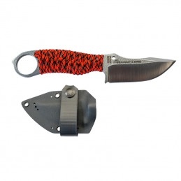 Wildsteer KAR0117 Karlican Lame brossée et paracorde Orange -