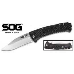 Sog TD1011-CP ( TD1011CP ) Couteau pliant manche en nylon noir -