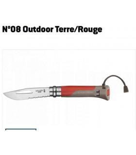Opinel N°08 Outdoor Inox Terre/Rouge -