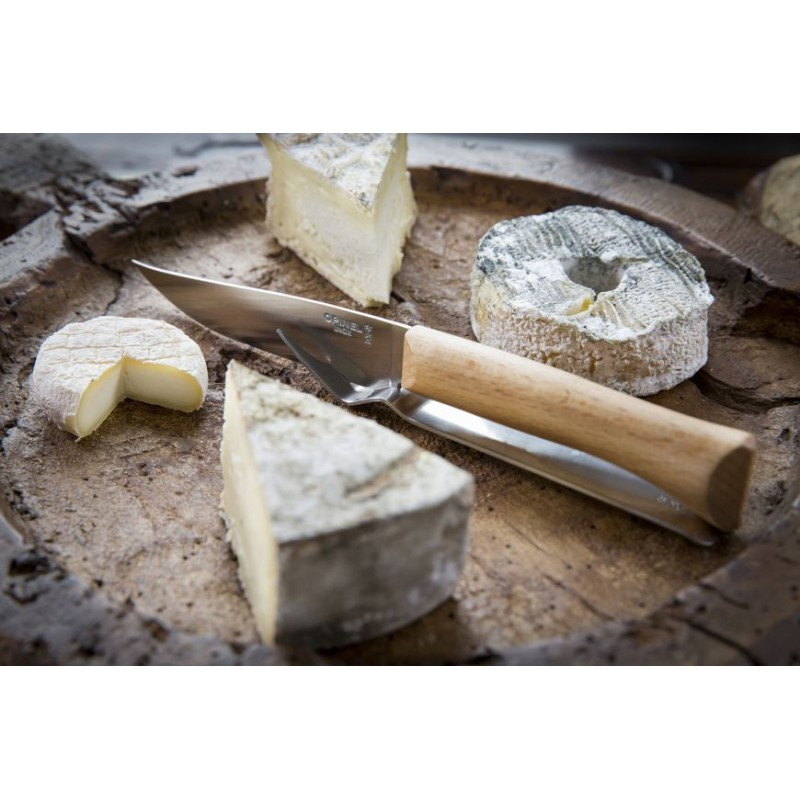 Opinel Set Fromage : couteau + fourchette -