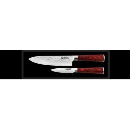 Coffret Couteau Japonais Wusaki Chef 20 cm + Office 9 cm -