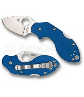 Spyderco C110GPBL Lava G10 Bleu Edition rare -