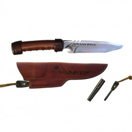 Wildsteer WILD0102E Manche Cuir brun avec extracteur ALU MMS -