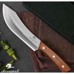 Shuangmali Couteau butcher Chef en bois naturel -