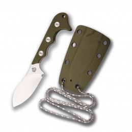 Couteau fixe Neck Knife QSP QS125-C ( QS125C ) Neckmuk Vert -