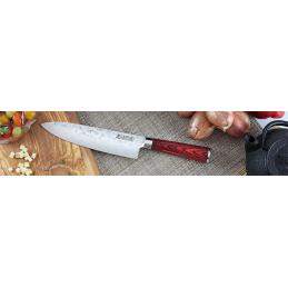 Wusaki Couteau Chef Série Pakka Lame de 20 cm -