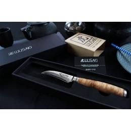 Wusaki 8009 Couteau Japonais Bec d'oiseau Lame de 9 cm Damas -