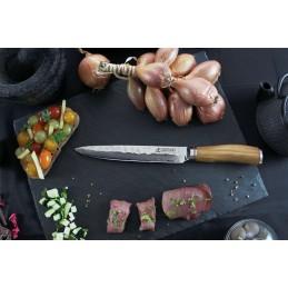 Wusaki 8004 Couteau Japonais à découper lame de 20 cm Damas -
