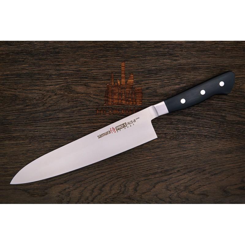 Samura PRO-S SP-0085 Couteau grand chef lame de 24 cm AUS-8 -