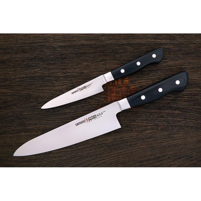 Samura PRO-S SP-0210 Couteau grand chef lame de 24 cm AUS-8 -