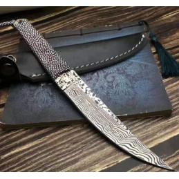 Couteau de chasse , survie , collection Chrysanthèmum -