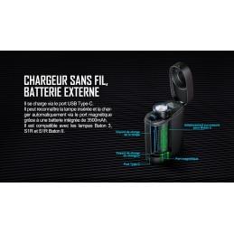 Olight Baton 3 Édition Premium - Lampe De Poche Avec Chargeur Sans Fil -