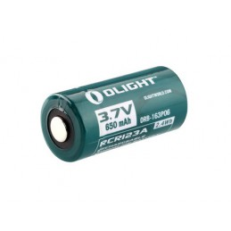 Olight RCR123A battery 3.7V 650mAh Rechargeable 2 Pcs -
