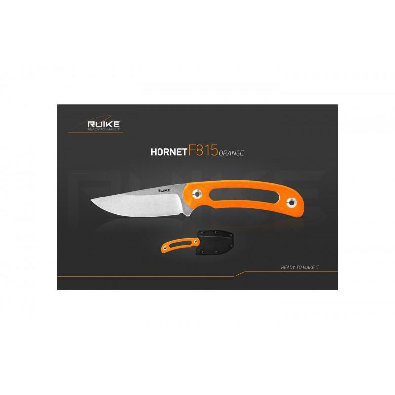 Ruike F815J Hornet Orange - Couteau Fixe 190mm -