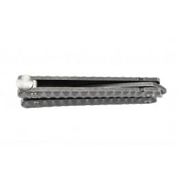 Maxknives P42 Couteau en acier stonewash -