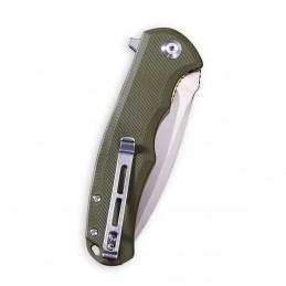 Poignée Praxis Flipper OD Green G10 ( 3.75 '' Satin 9Cr18MoV ) C 803A -
