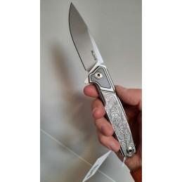 Ruike P875-SZ Couteau de poche en acier 14C28N et fibre de carbone ouverture flipper -