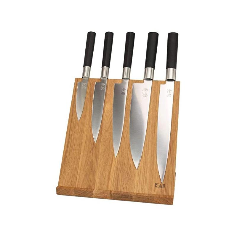 Kai DM-0821 ( DM0821 ) Bloc magnétique 4-6 couteaux Japonais ( Sans couteaux ) -
