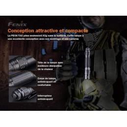 FENIX PD36TAC LAMPE DE POCHE TACTIQUE PUISSANTE FORMAT COMPACT - 3000 LUMENS -