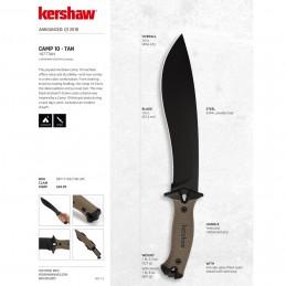 Kershaw Camp 10, 1077TAN machette -