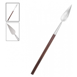 Wiking Javelot Lance de jet décorative courte avec manche en bois. -