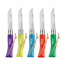 Pack 5 x Opinel N°07 Baroudeur Violet , Bleu Cyan , Anis , Orange , Vert Prairie -
