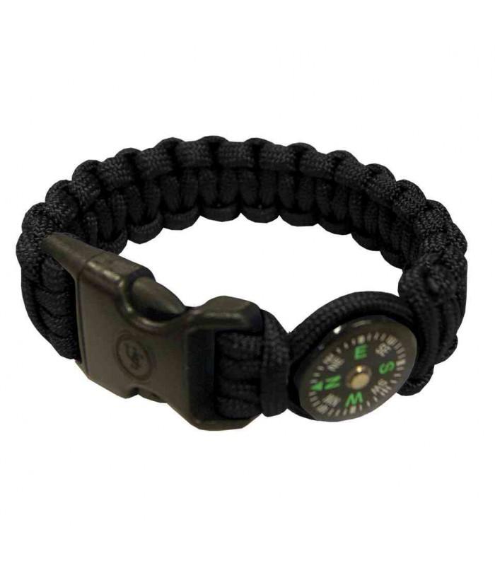 UST Brands W100295345 Bracelet Survie avec Boussole Noir -