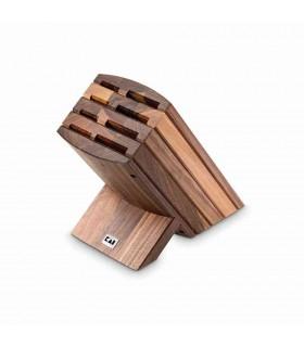 Kai DM0810 Wasabi Porte-couteaux Noyer  pour 8 couteaux -