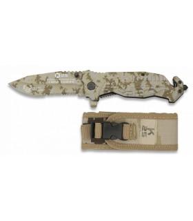 K25 19940-A Couteau pliant FOS Noir coyote. Lame 9 cm -