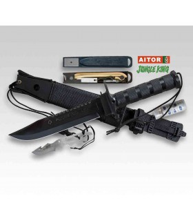 Aitor JUNGLE KING II BLACK Survival Knife -